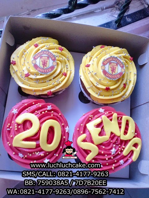 Cupcake Buttercream Mancherter United Daerah Surabaya - Sidoarjo