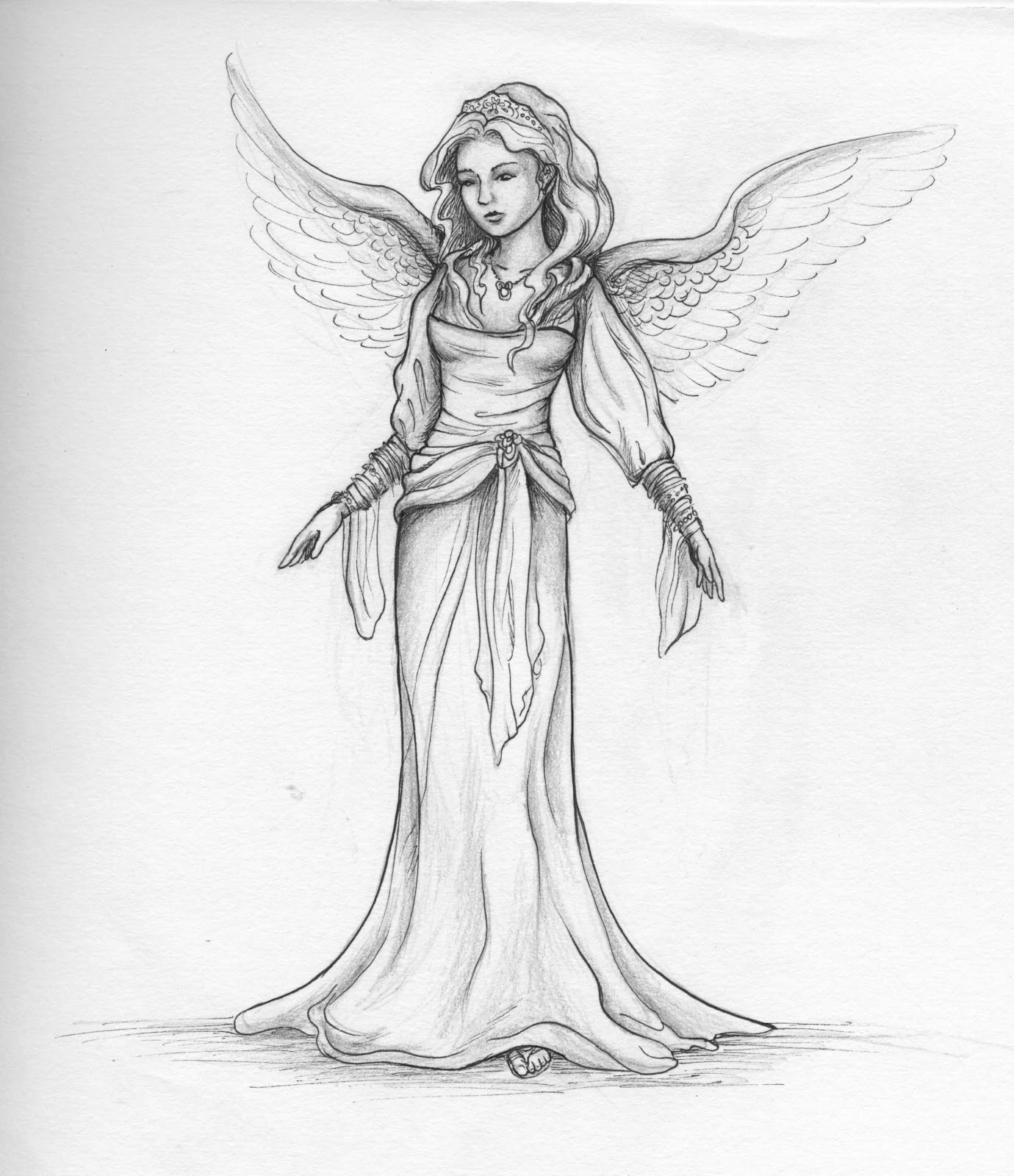 Pencil Drawings: Pencil Drawings Of Angels