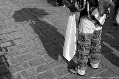 sombra danzante de la pluma en guelaguetza de Oaxaca