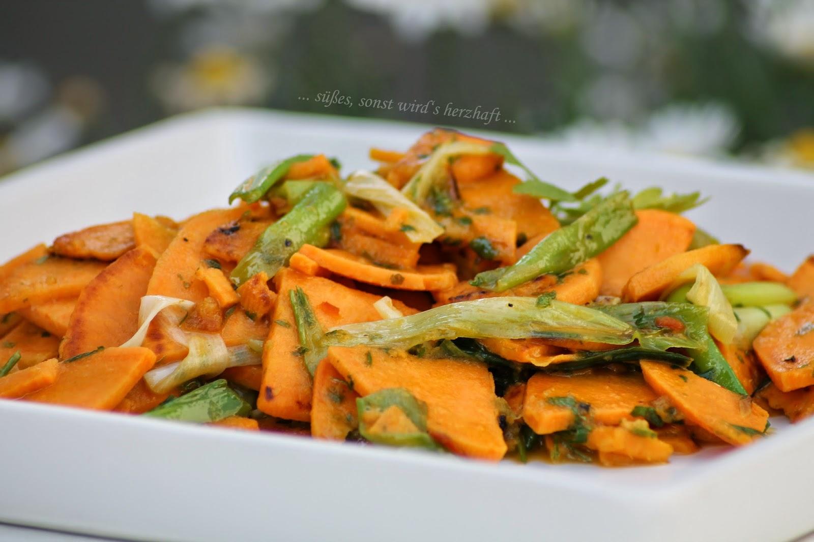 süßes sonst wird\'s herzhaft..: Der -ohne Avocado- Süßkartoffelsalat