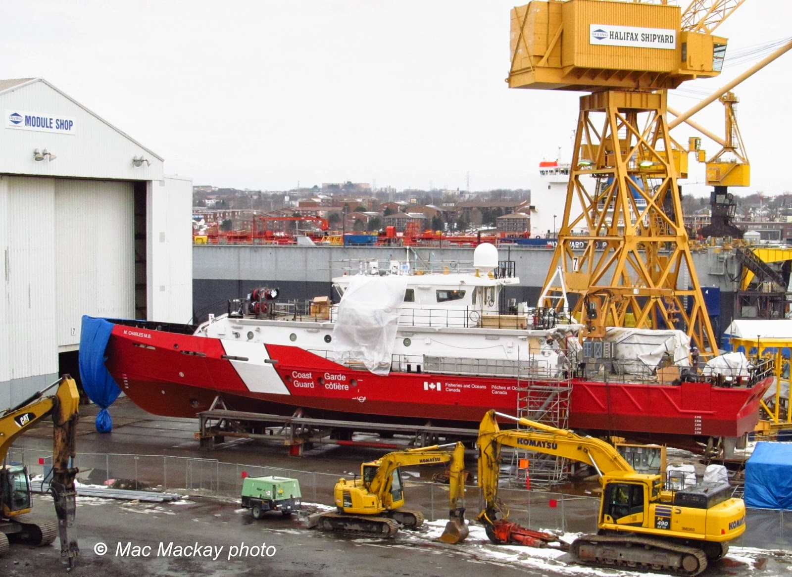 Crib for sale halifax - M Charles M B Sits On A Crib Work Frame Just Outside The Module Ship Construction Machinery In The Foreground Is Working On Demolition Of The Old Pipe