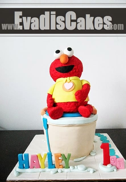 Picture that Elmo on potty sculpture cake