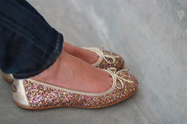 glitter texture ballerina flats sparkle sparkly shoes