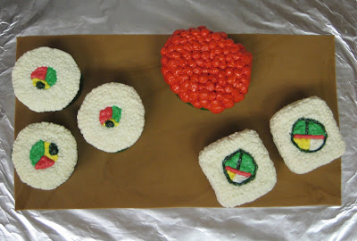 Sushi Cupcakes - Overhead View