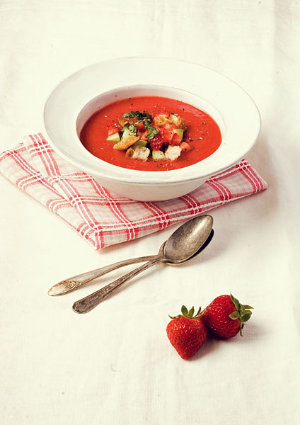 Strawberry Tomato Gazpacho