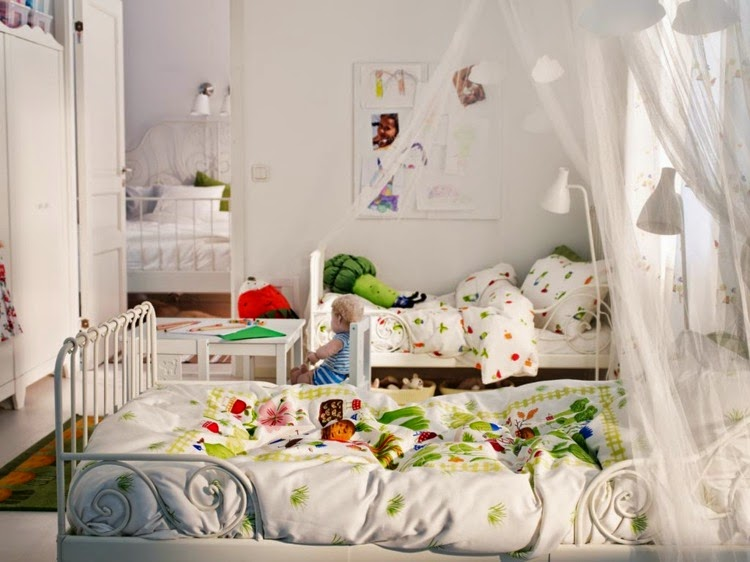 White playful nursery design