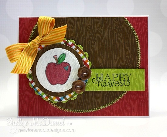 Happy Harvest Apple Card by Shellye McDaniel for Newton's Nook Designs