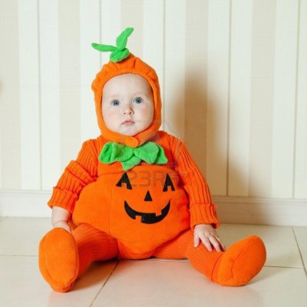 Beb s con disfraz de calabaza halloween - Disfraces de halloween bebes ...