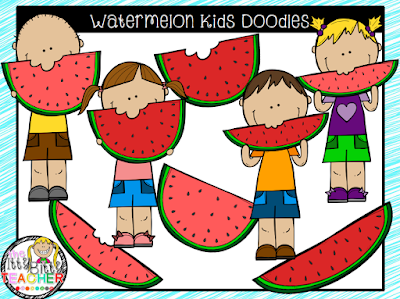 https://www.teacherspayteachers.com/Product/Clipart-Watermelon-Kids-Doodles-1913826