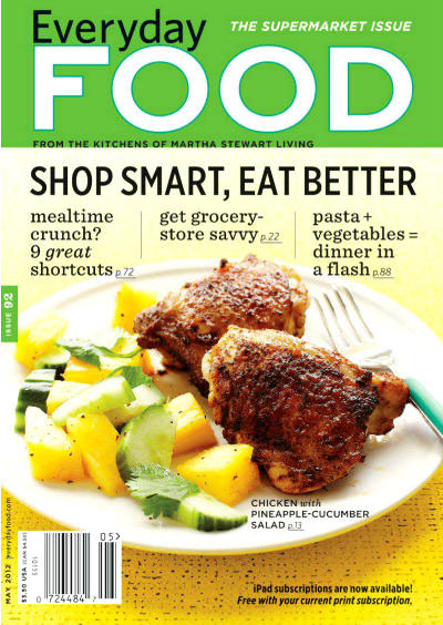 my back pages: everyday food magazine May 2012 issue