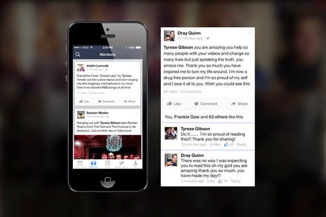 Facebook Mentions es la primera aplicación exclusiva para celebridades