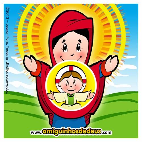 santa maria mãe de deus desenho