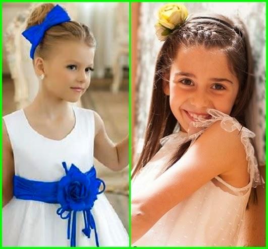 Hochzeit Frisuren für kleine Mädchen