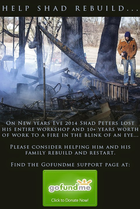 Shad Peters lost his entire business in a New Year's Eve fire.