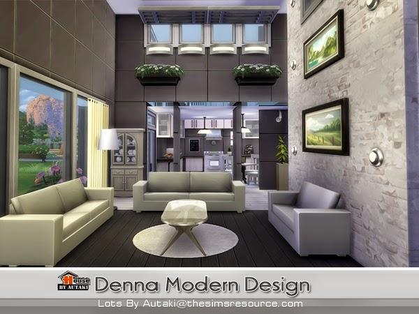 Casa moderna denna the sims 4 pirralho do game for Sims 4 modelli di casa moderna
