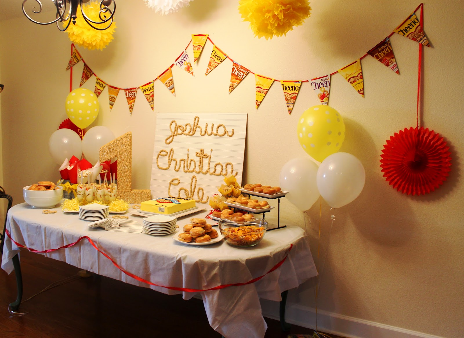 The House That Built Us Cheerios First Birthday Party