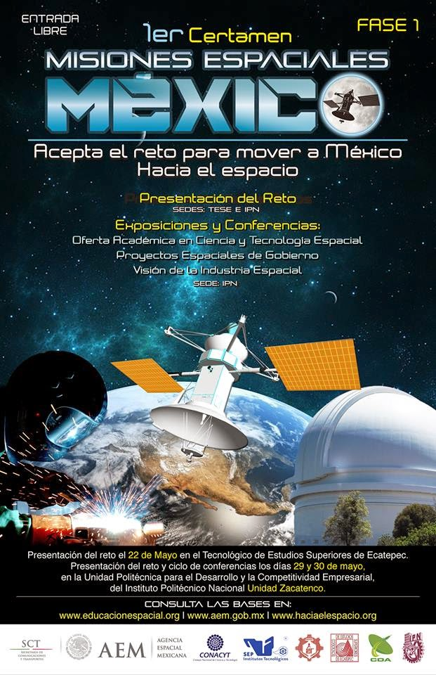 1er Certamen Misiones Espaciales México de la Agencia Espacial Mexicana