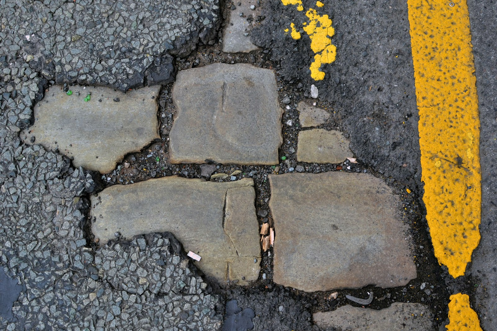 Cobbles, road markings, Details, exploring city, close up photography, manchester, urbex, ephemera, urban narrative