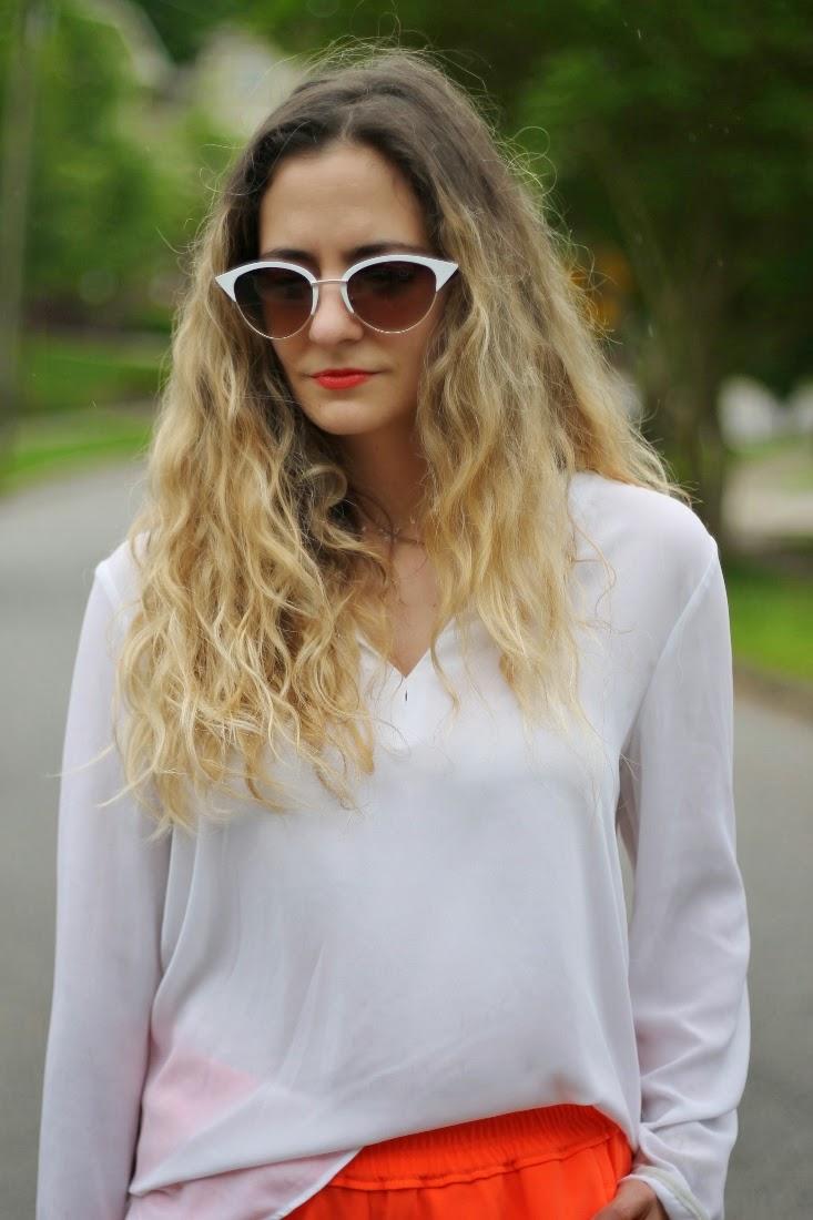 Sole Society Vivian White Sunglasses