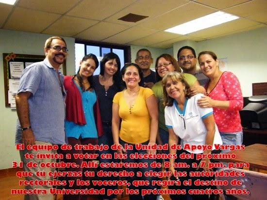 El equipo de trabajo UNA Vargas