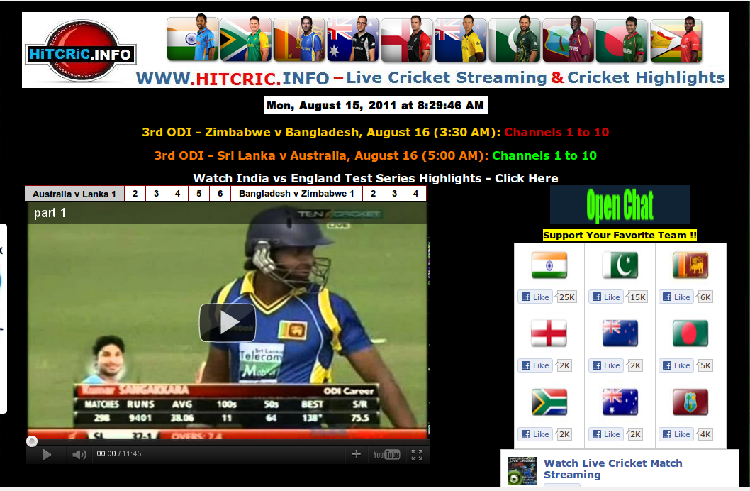 Watch Live Cricket (Live Streaming)
