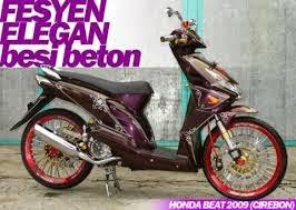 honda beat merupaka motor skuter matik yang cara memodifikasinya tidak terlalu sulit,,,