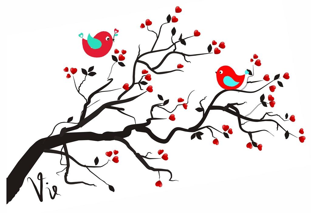 Zaena Alviani Berbagi Clip Art Love Tree With Bird