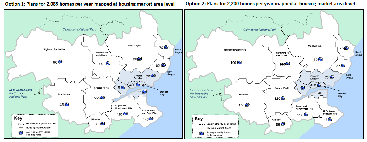 TAYplan Main Issues Report Spring 2014 - Projected deamond for new housing