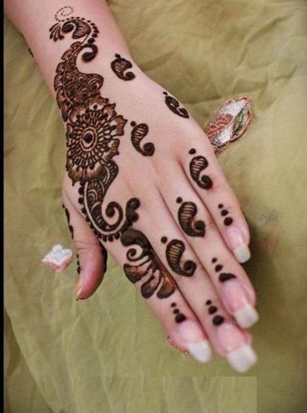 Girls Best Mehndi Designs 2013: Beautiful Hand Mehndi Henna Designs