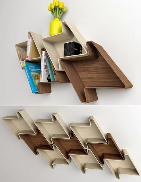 laminated composite wooden book shelf