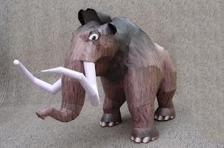 ice age manny mammoth papercraft