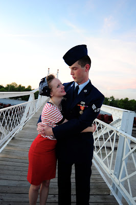 Flashback Summer- And So It Begins... 1940s military couple photography shoot