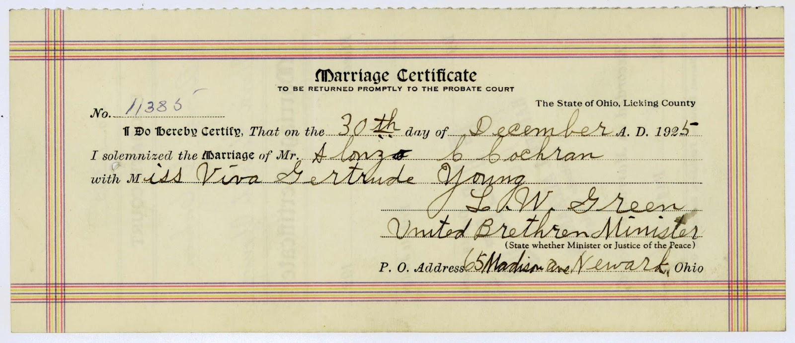 Licking County Records And Archives Blog Marriage Consents And Returns