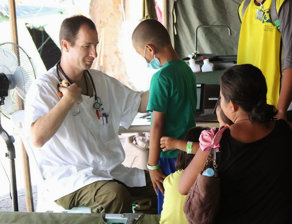 up to his patient at the israel mobile hospital in bogo city city