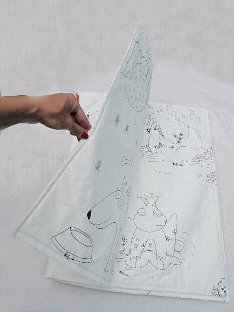La Dibujería: Libro gigante de tela de papel para colorear