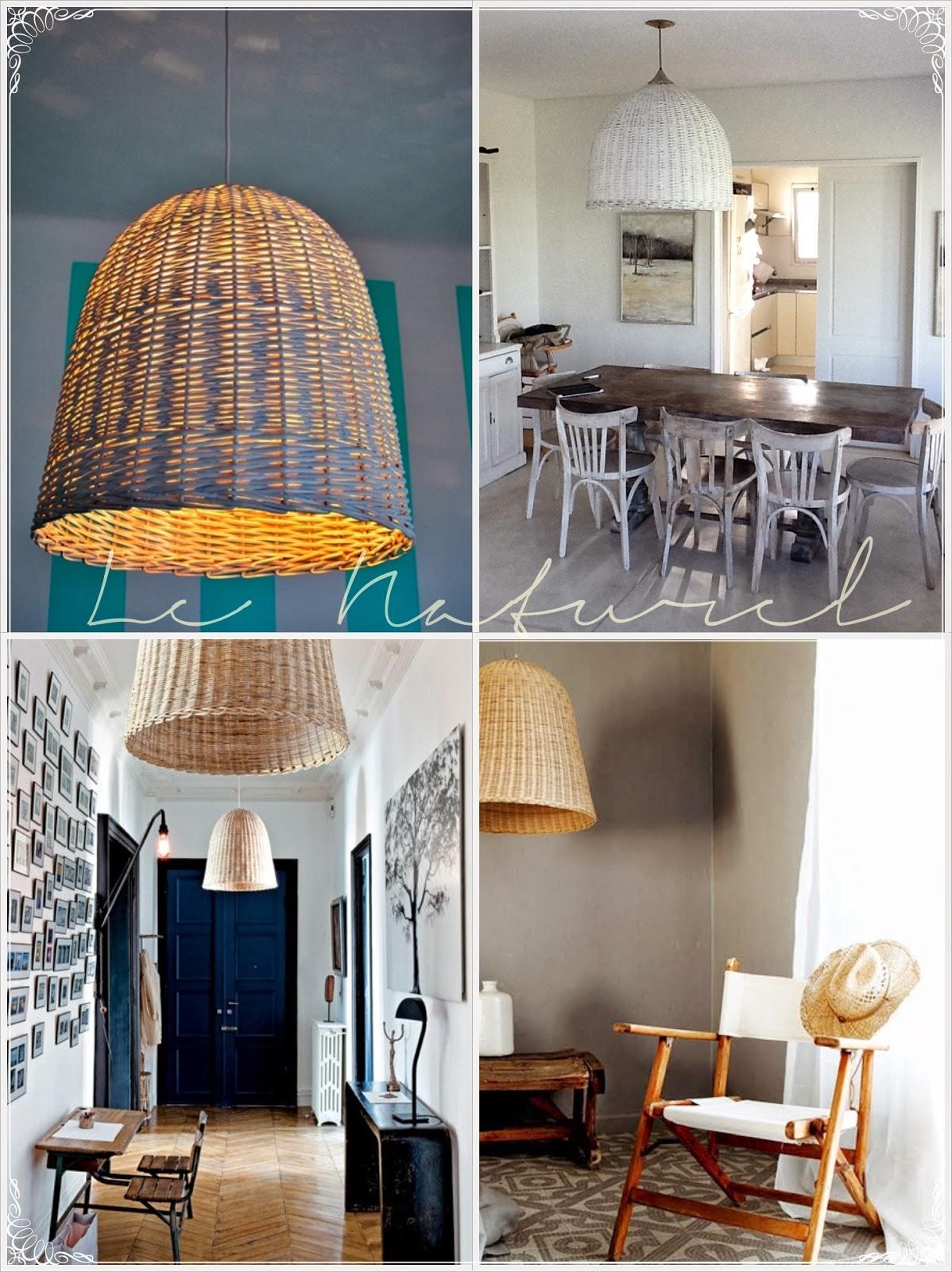 Le naturel almacen de muebles lamparas de mimbre - Lamparas de ambiente ...