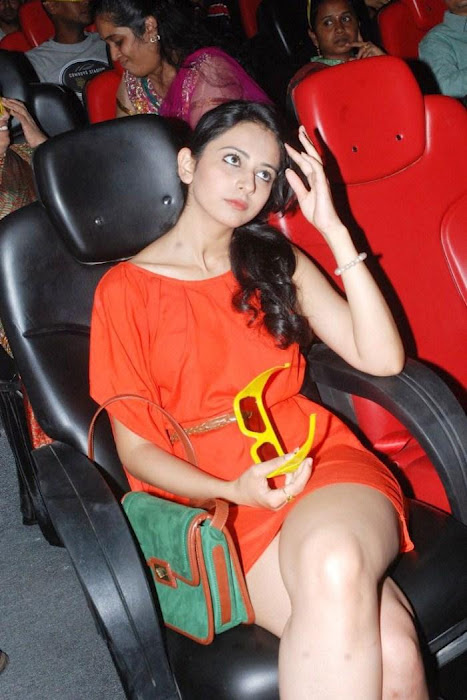 Rakhul Preet Singh hot thighs  in red dress - Rakhul Preet Singh HOT Legs!