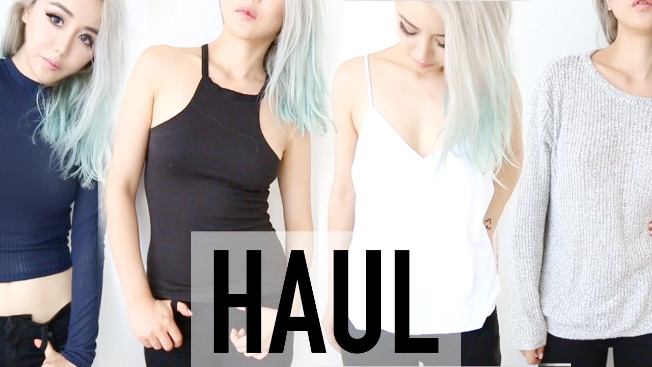 American Haul Try On ♥ Brandy Melville, Sephora, Hollister