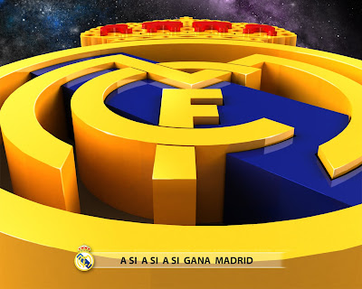 real madrid logo 3d background
