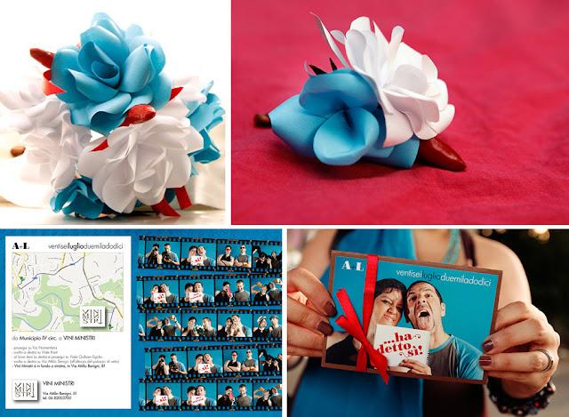 matrimonio easy low cost fibre di luce particolari bouquet ed inviti