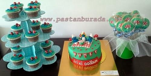 Ankara Özel Tasarım Şeker Hamuru Butik Pasta Kurabiye Cupcake