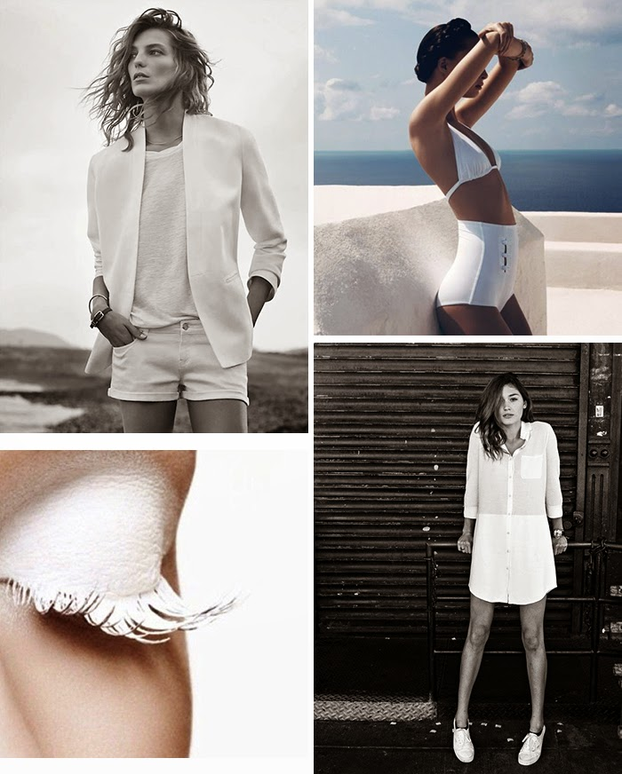 white summer fashion inspiration