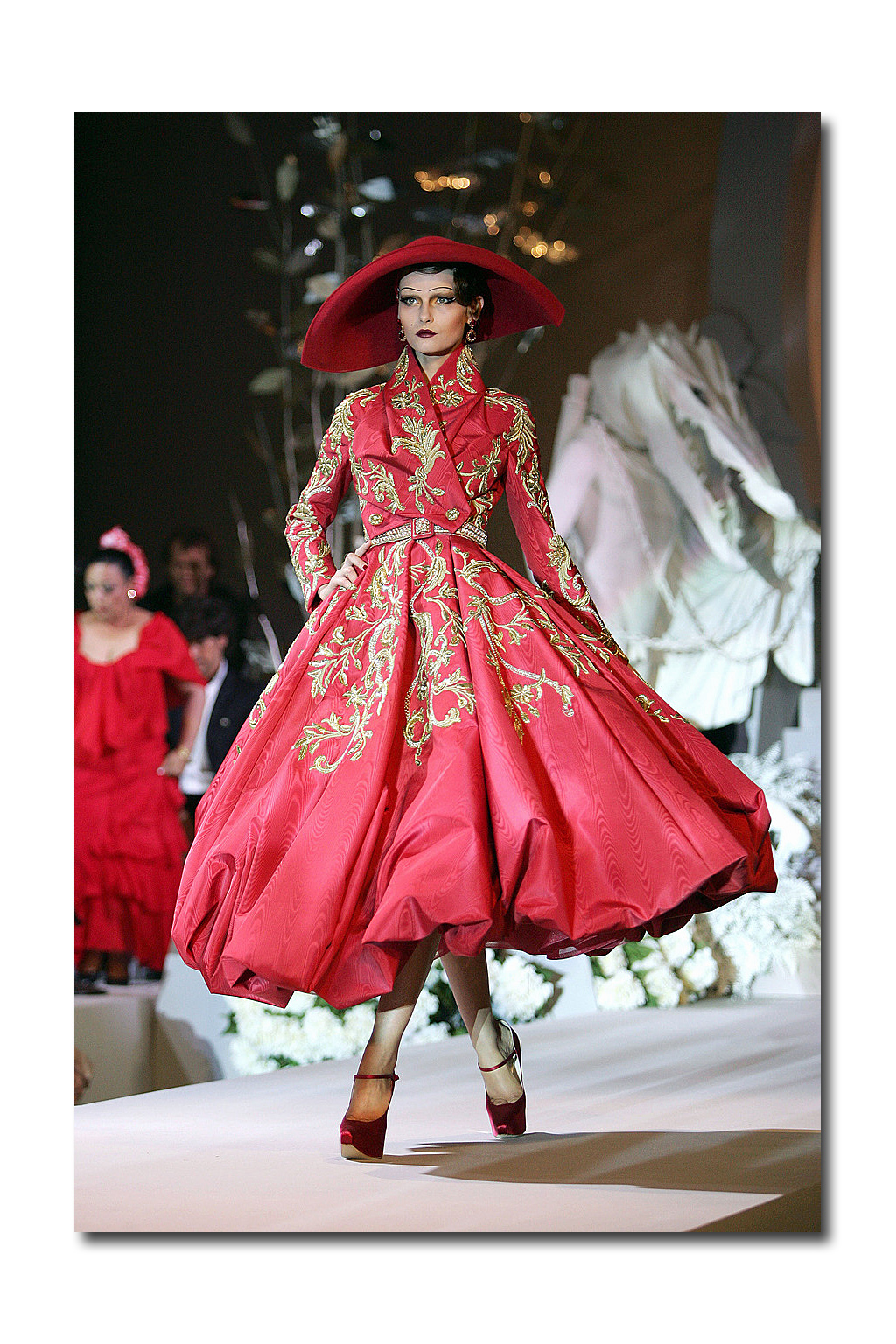 In the market report by marilyn kirschner for American haute couture designers
