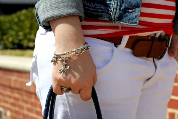 David Yurman Sterling Silver Buckle Bracelet and Cable Classic Bow Bracelet,