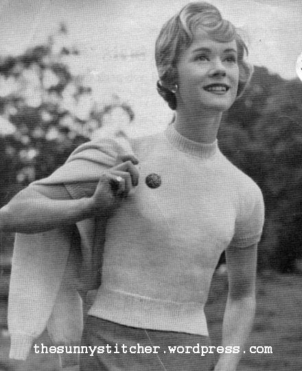 1950's Knitting - Smart Partners Twin Set For Knitting Machine free pattern