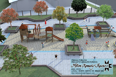 Projeto arquitetônico praça infantil