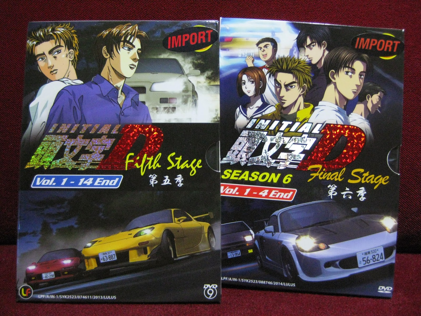 desmond collection dvd initial d fifth stage and final stage. Black Bedroom Furniture Sets. Home Design Ideas