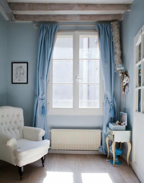 piso parisino en azules