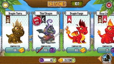 Dragon Ladron A Solo 100 Gemas En Dragon City IOS