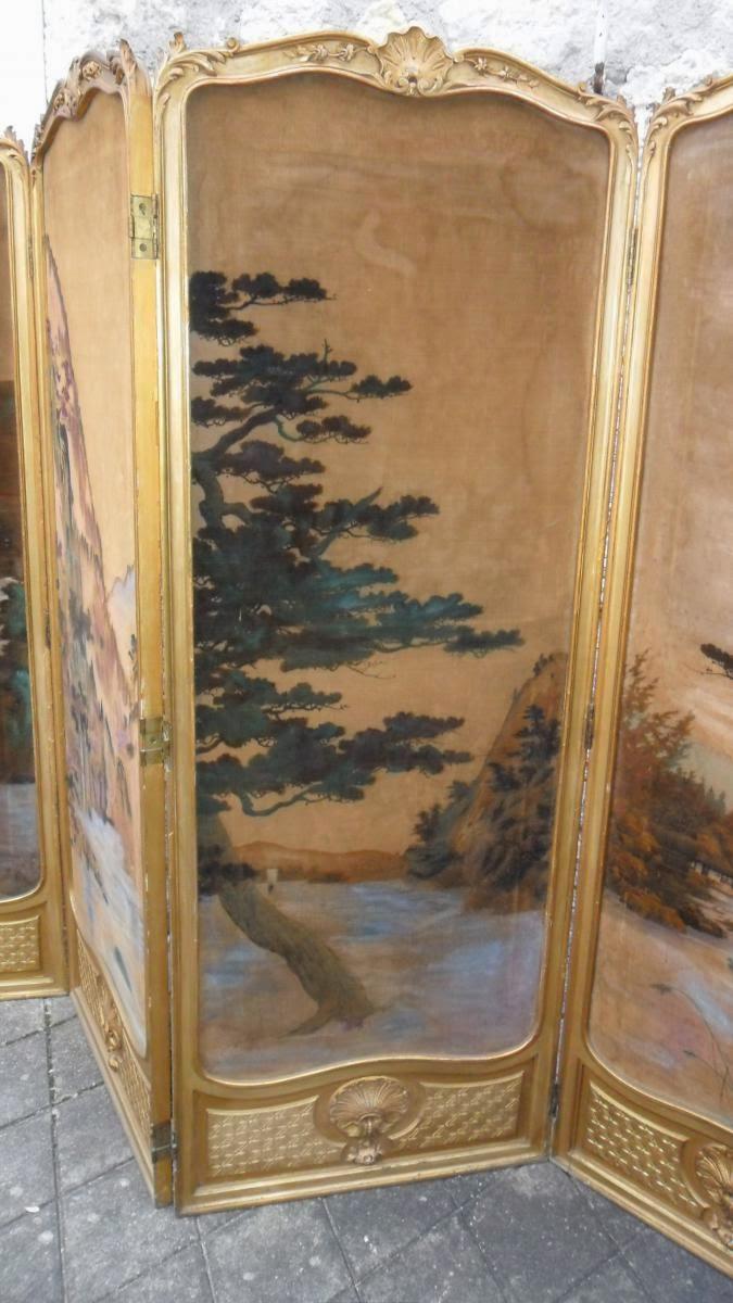 Paravento Napoleone III - Ottocento